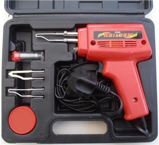 electric soldering gun set iron kit 100w ebay. Black Bedroom Furniture Sets. Home Design Ideas