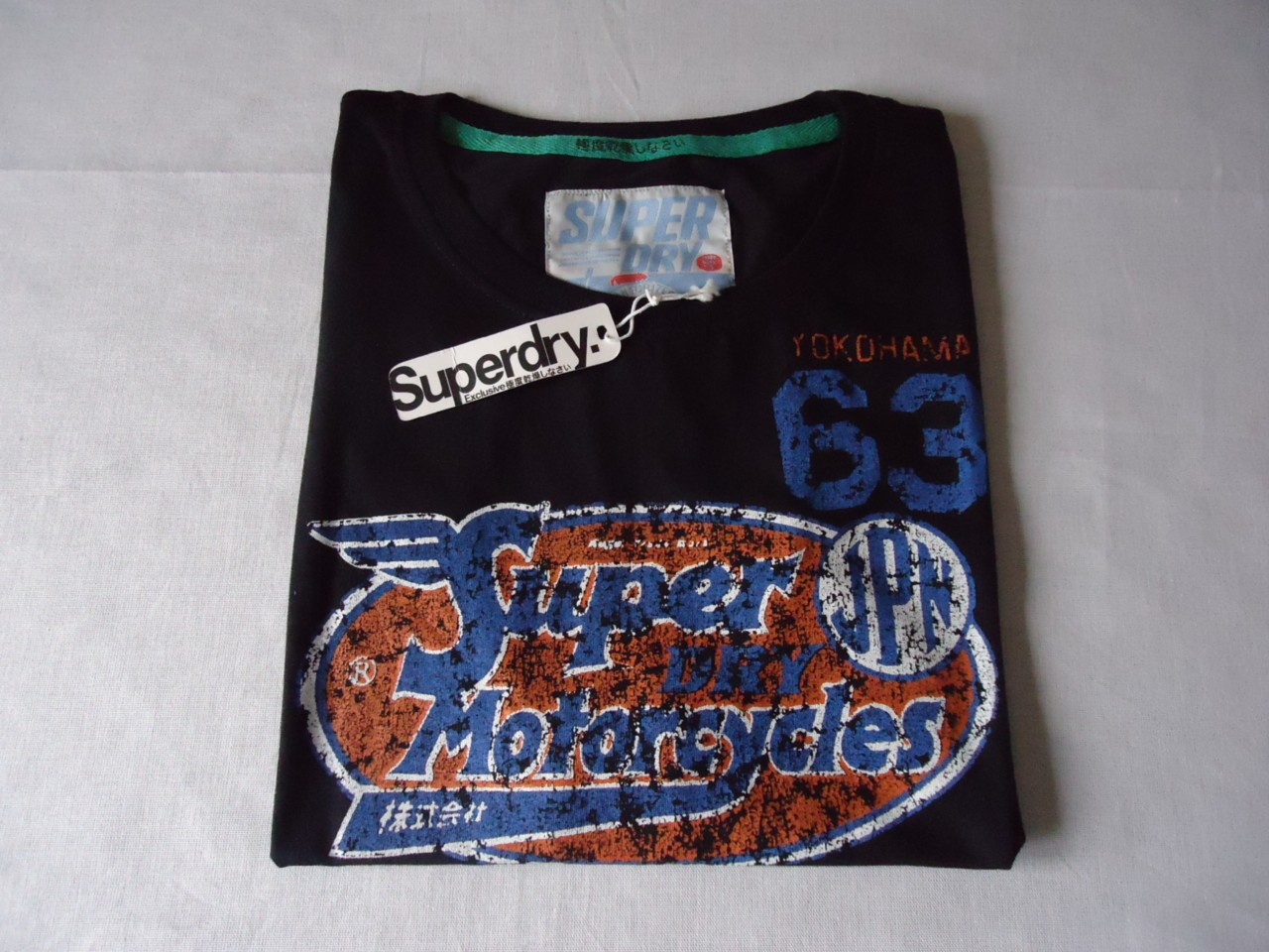 Superdry-Black-Label-Sportswear-T-Shirt-Navy-New-With-Tags