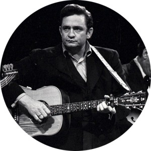 Johnny Cash Button Pin Several Sizes Available