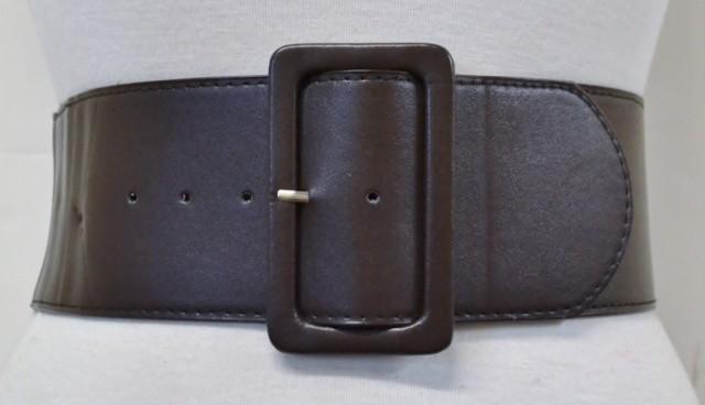 Classy Retro 80s Mod Leather Elastic Stretch Wide Cinch Waist Belt Multicolor