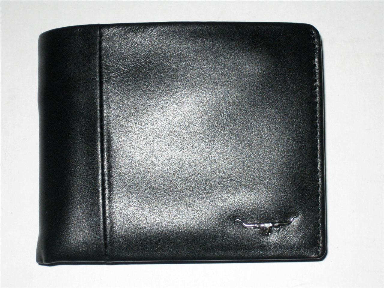 New Rm Williams Mens Black Leather Bifold Wallet With Interior Flap Clip Coin254 Ebay