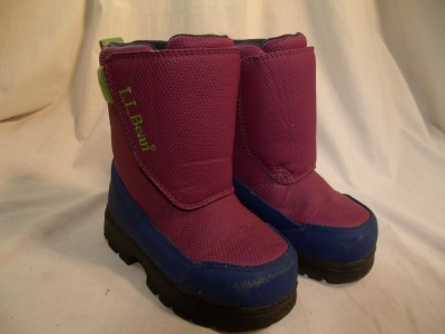 ll bean snow boots shoes toddler size 8 purple blue