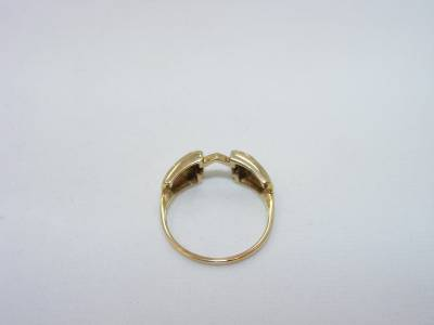 10K Yellow Gold Ladies Diamond Wedding Ring Guard / Wrap. This ring