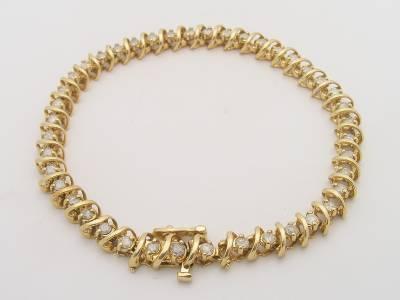 3 00 Carat Total Weight Diamond Tennis Bracelet 10k
