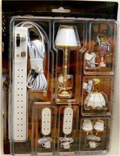 Dollhouse miniature light fixtures lamp lighting set 12 for 12 volt floor lamps