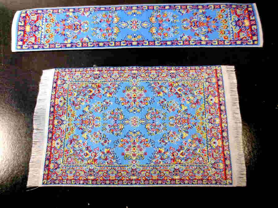 Dollhouse miniature rug carpet runner matching set flooring free shipping aa ebay - Rugs and runners to match ...