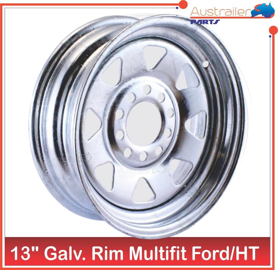 GALVANISED-MULTIFIT-SUNRAYSIA-RIM-FORD-HT-BOAT-TRAILER-WHEELS