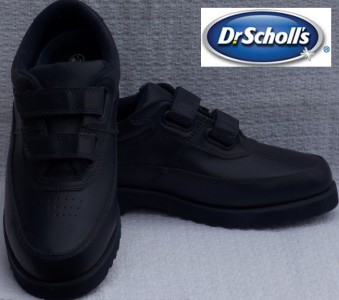 Details about Dr. Scholl's ~ blue calfskin leather casual velcro strap
