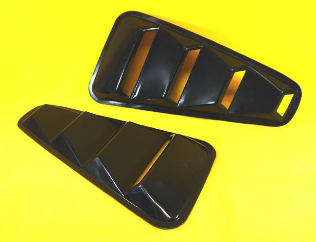 2005 2014 Mustang Coupe Black 1 4 Side Vent Window Louvers