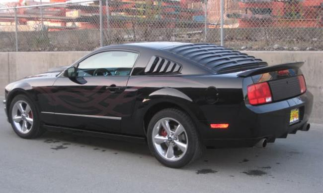 05 14 mustang coupe gt coupe gloss black rear side window for 05 mustang rear window louvers