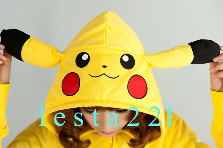 Pikachu Hoodie JP Anime Pokemon Zips Long Sleeve Hoodies Jacket Top Coat
