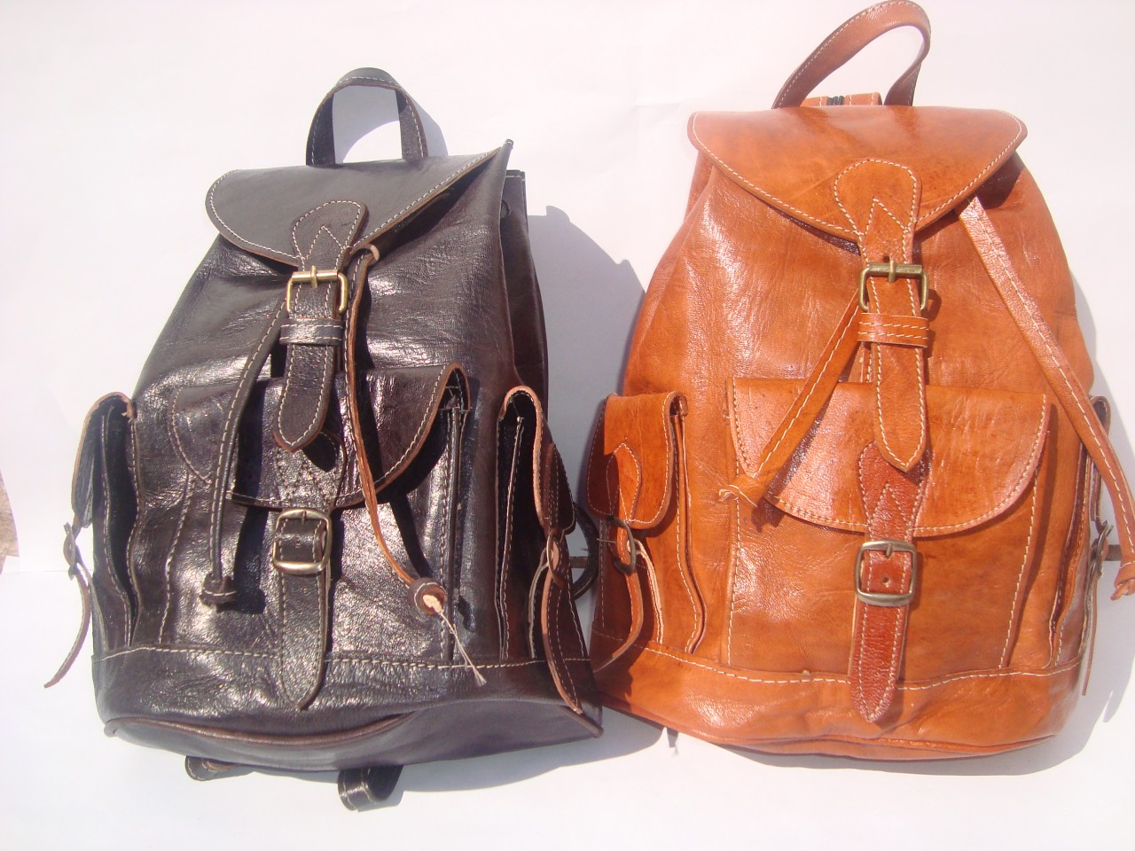 Back Purse : ... -Leather-Backpack-Rucksack-back-bag-soulder-vintage-purse-travel-bag