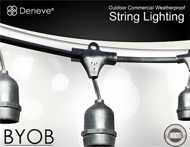 Outdoor String Lights By Deneve : NEW Holiday Christmas 48 Deneve Outdoor String Lights, 15 E26 Sockets, No bulbs eBay