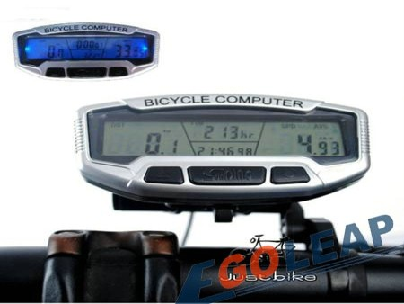 Bicycle Bike Cycling Computer Odometer Speedometer LCD Blue light Free