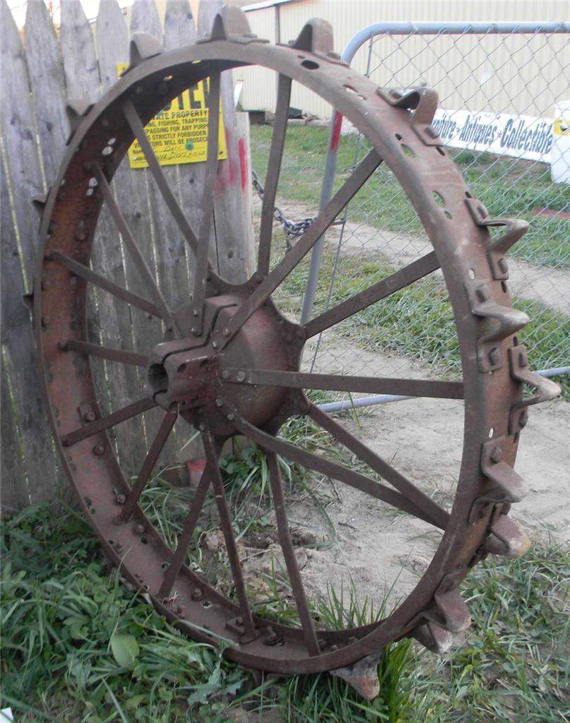 Antique Tractor Steel Wheels : Pair of vintage antique rear steel tractor wheels farmall