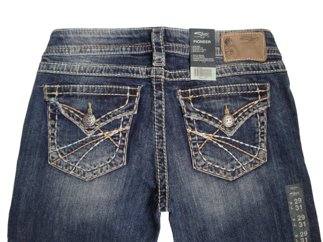 Silver Jeans Co. Pioneer Boot Cut Jeans Silver Jeans Co. Blue Womens Suki Leg X 29 Floral Royal Print Pattern Skinny Jeans. $ $ US 25 (2, XS) Silver Jeans Co. Blue Dark Rinse 32/30 Boot Cut Jeans. $