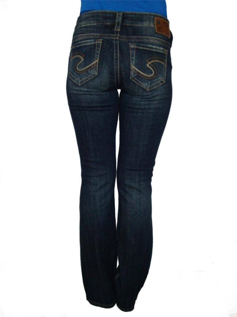 Silver Jeans FRANCES 18&amp034 Low-Rise Straight Fit Slim Hip Boot