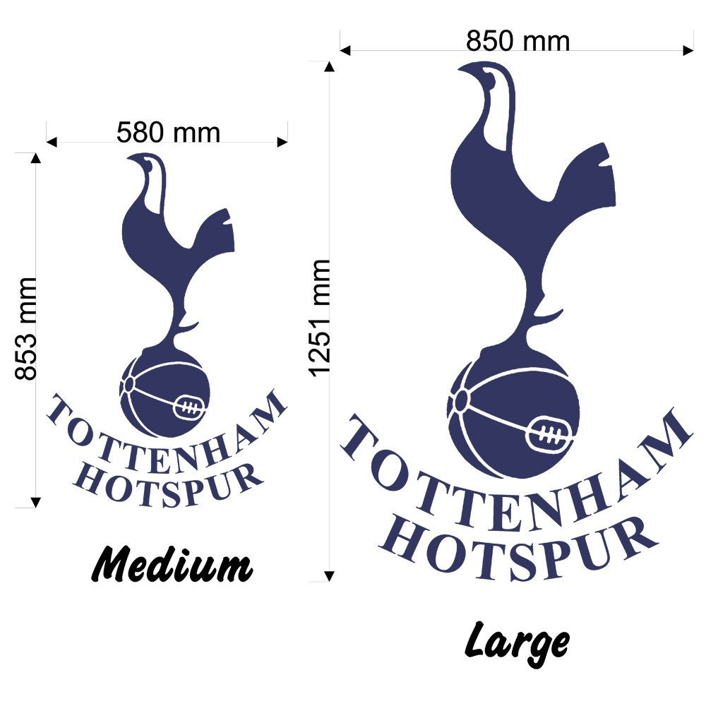 tottenham hotspur badge wall decal art sticker football tottenham hotspur badge wall decal art sticker football