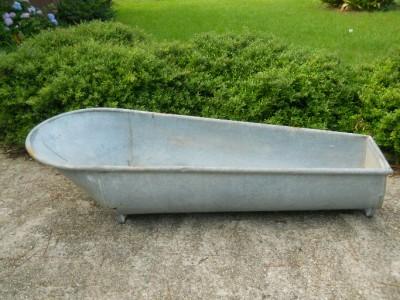 Antique Coffin Bath Tub Antique Metal Vintage Cowboy Style
