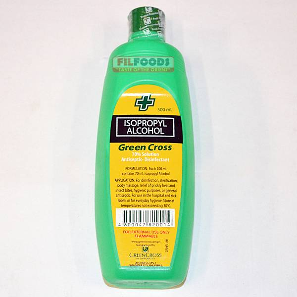 green cross 70 isopropyl rubbing alcohol 500ml ebay. Black Bedroom Furniture Sets. Home Design Ideas
