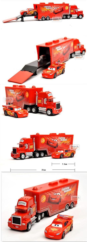 Lightning Mcqueen Mack Truck : Disney pixar cars new lightning mcqueen mack truck free