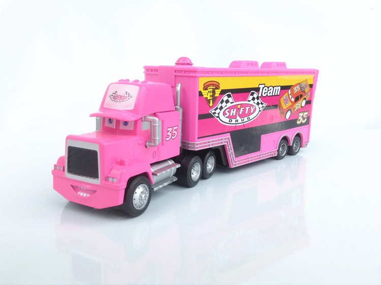 new disney pixar cars 439586 kingchick hicksfrancescomack hauler truck toy ebay - Disney Cars Toys Truck