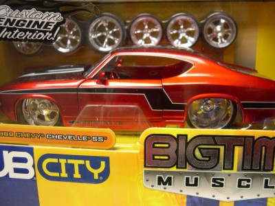Jada Toys Dub City 1969 Chevy Chevelle SS Red 124 Scale Diecast Model