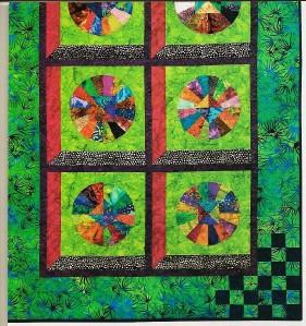 Scrap Quilt Patterns For Beginners : COFFEE-FILTER FANS Quilt Pattern From Magazine - Beginner Scrap Piecing/Applique eBay