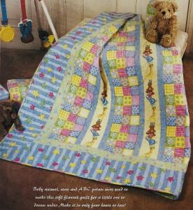 BABY BLOCKS Quilt Pattern From Magazine Fast Beginner Novelty Print Patchwork eBay