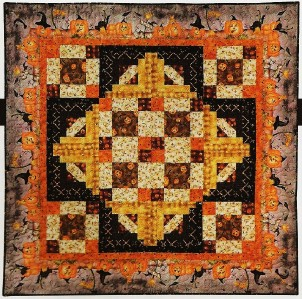 HAUNTED HALLOWEEN Quilt Pattern From Magazine - Novelty Print Fabric Piecing eBay