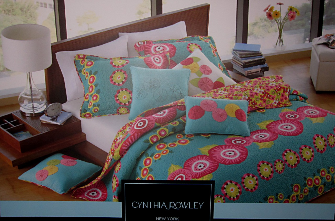 CYNTHIA ROWLEY GIRL TEENS ADULT TWIN IBIZA BEDDING SET