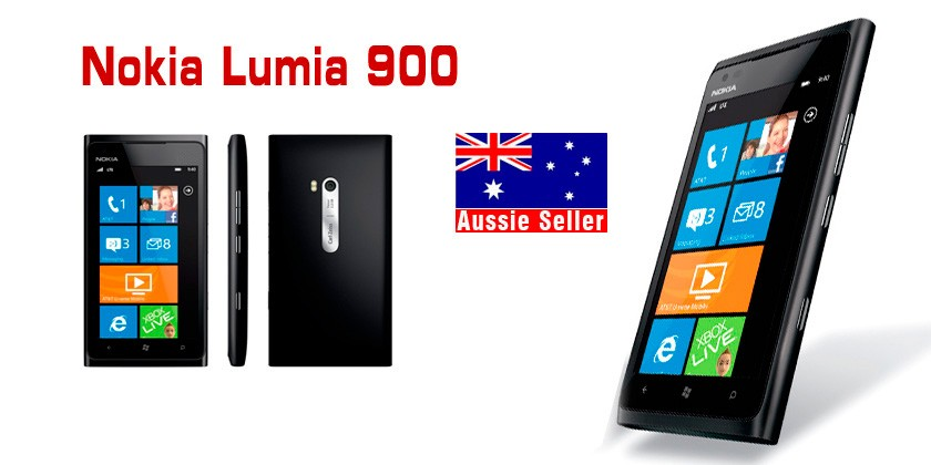 New Nokia Lumia 900 WindowsPhone 7.5 8MP 16GB Unlocked Smartphone