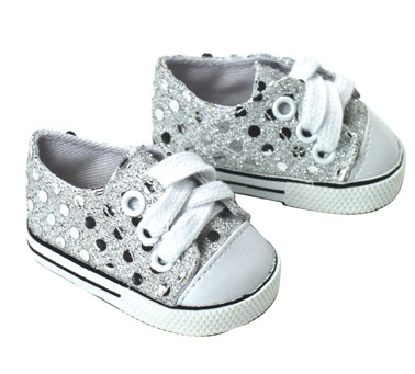 doll clothes fit 18 quot american sneakers silver