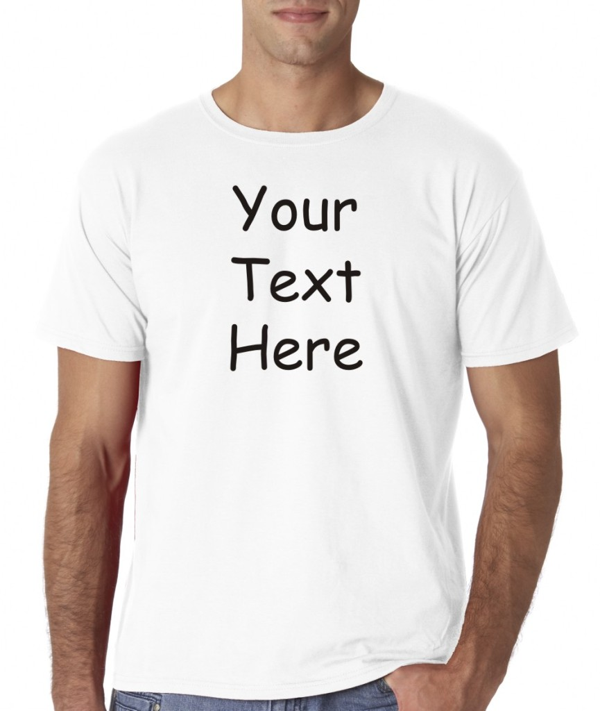Mens custom personalized text fitted t shirt tee all sizes for Photo t shirts with text
