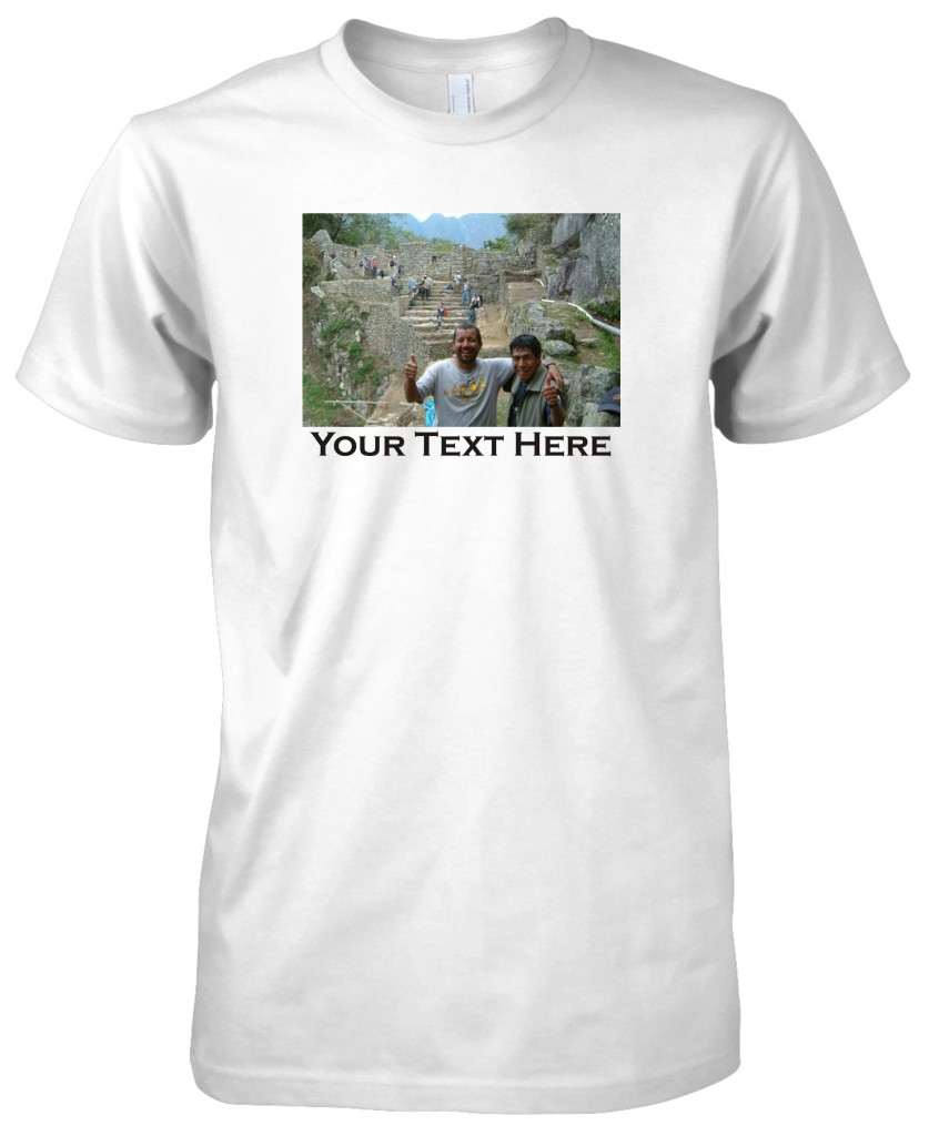 Mens american apparel custom personalized picture t shirt for Custom fashion t shirts
