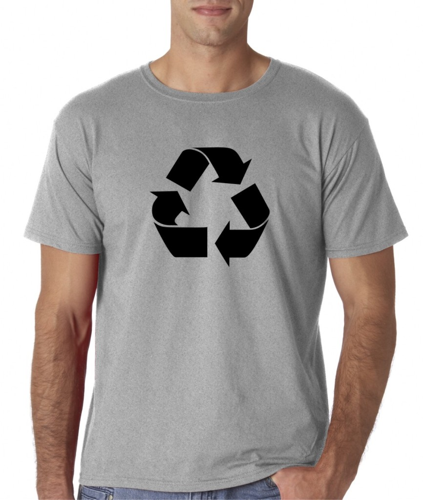 mens recycle sign go green environment t shirt tee ebay. Black Bedroom Furniture Sets. Home Design Ideas