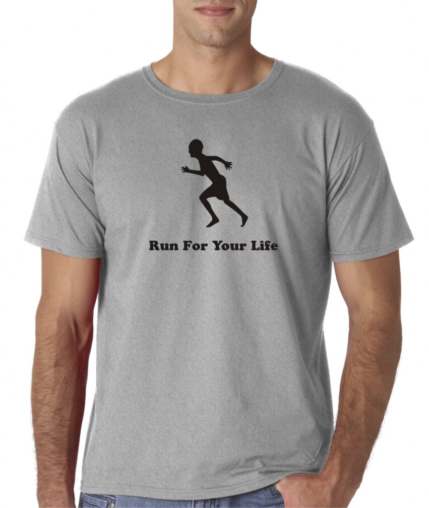 Mens Run For Your Life Running Sports Gym Track Cross