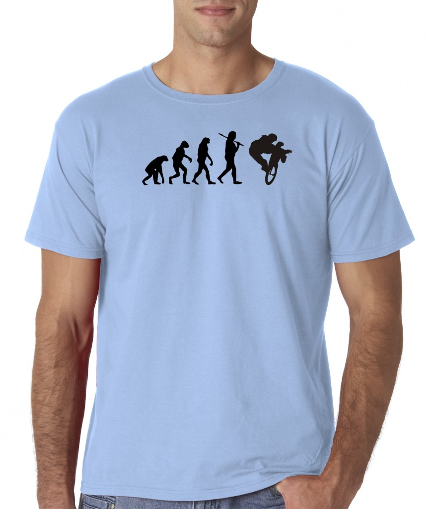 Mens-Evolution-of-Man-Sportbike-Race-Dirt-Bike-Motorcycle-Extreme-Sports-T-Shirt