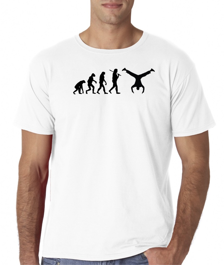Mens Evolution of Man Parkour Handstand Free Running T-Shirt Tee ...