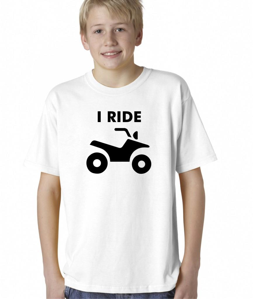Kids-Boys-Childrens-I-Ride-ATV-4-Wheeler-Quad-Dirt-Bike-Rider-T-Shirt-Tee