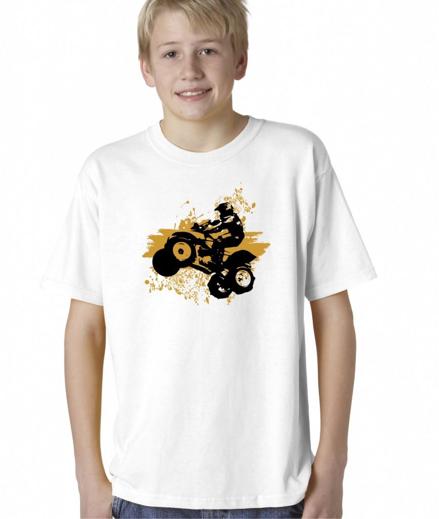 Kids boys childrens atv quad 4 wheeler 4x4 extreme sports for Graphic t shirts for kids