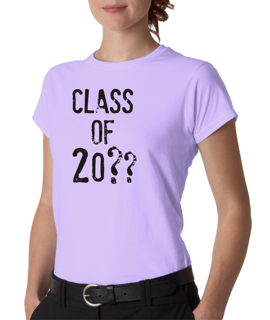 Juniors custom personalized class of high school college for Custom school t shirts