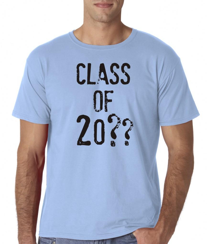 Mens custom personalized class of high school college for Custom high school shirts
