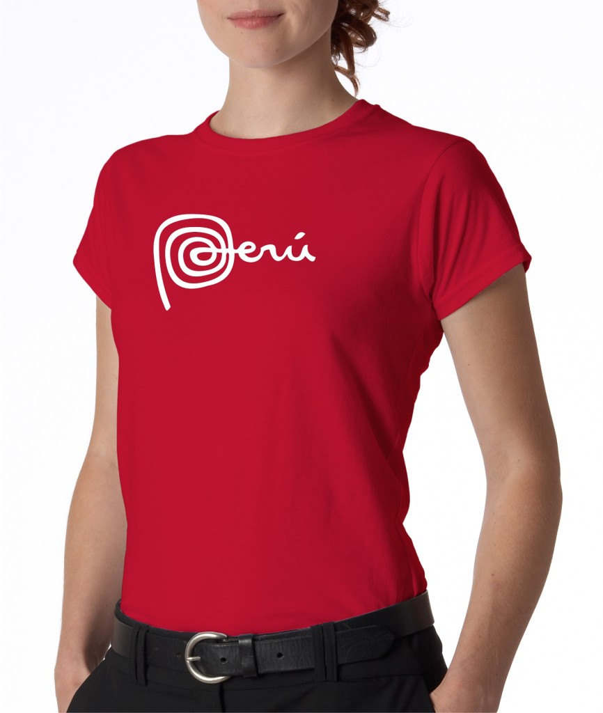 Juniors womens marca peru logo machu picchu peruano for Peruvian cotton t shirts