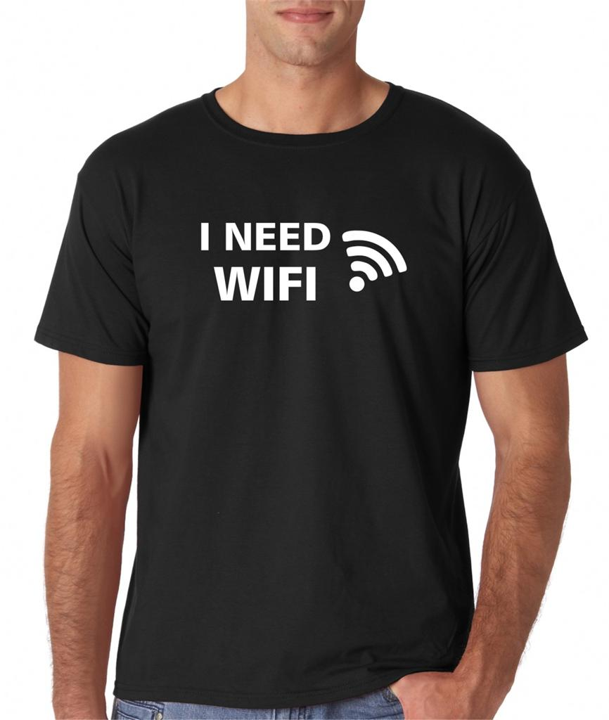 Mens I Need Wifi Funny Geek Computers Internet T Shirt Tee