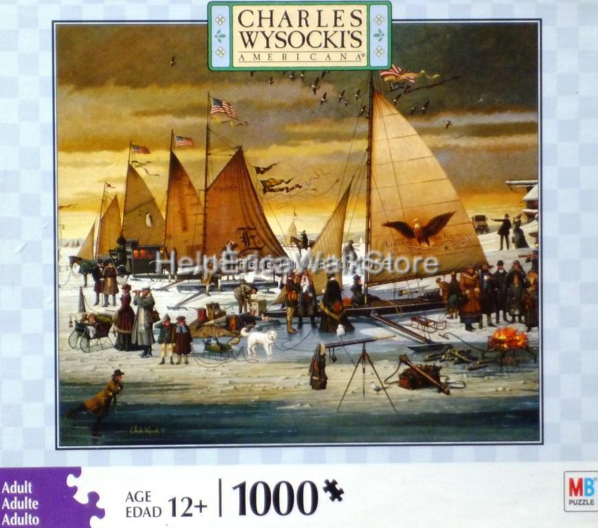 NEW-034-ICE-RIDERS-OF-CHESAPEAKE-BAY-034-a-Charles-Wysocki-1000-pc-Puzzle