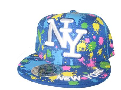 paint splat fitted hat
