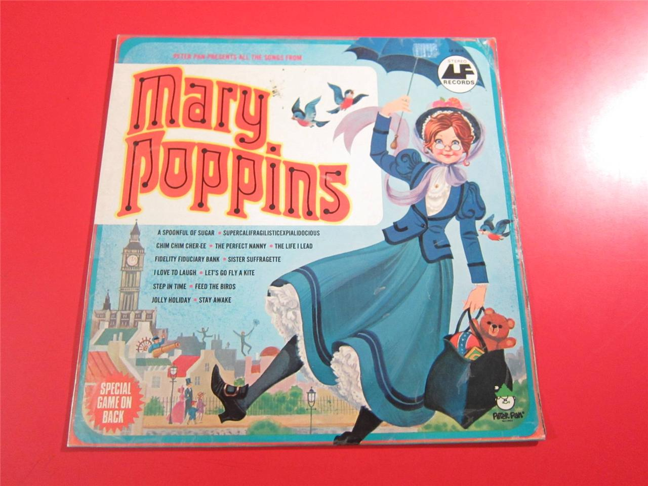 Mary Poppins Peter Pan Recording Ebay