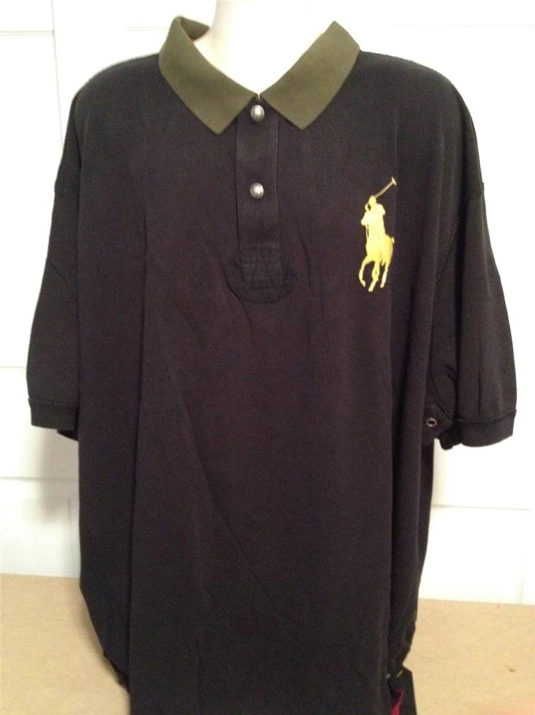 New ralph lauren big and tall rugby contrast polo shirt for Tall ralph lauren polo shirts
