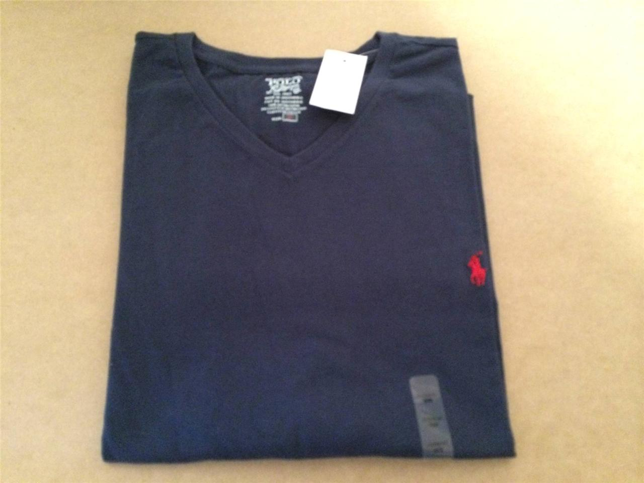 New Polo Ralph Lauren Classic Big And Tall V Neck T Shirt